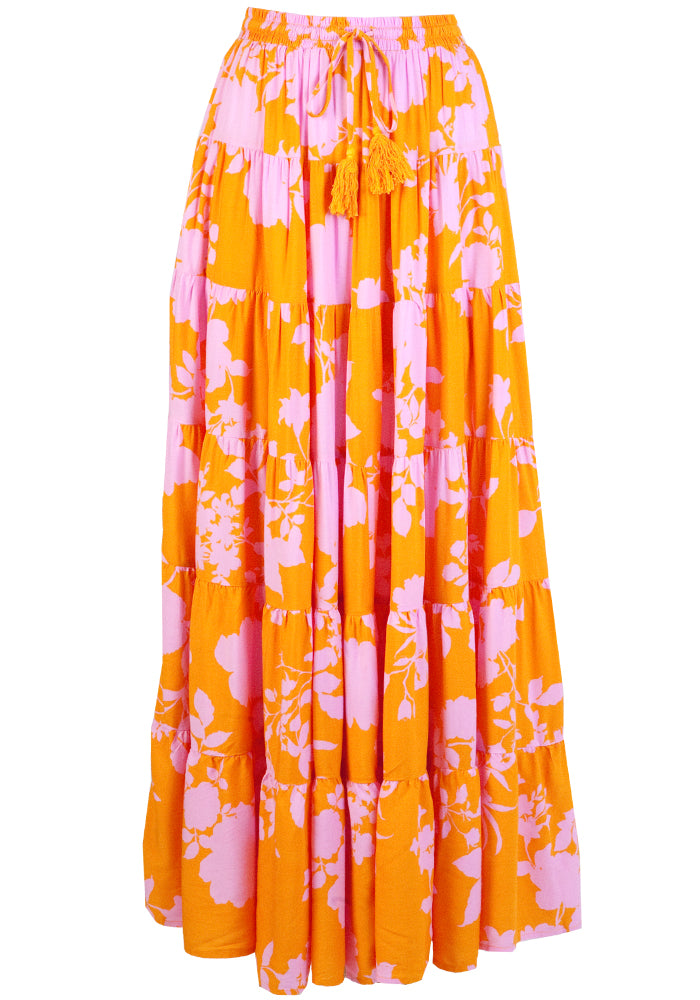ZEPHRE MAXI SKIRT -  YELLOW PRINT