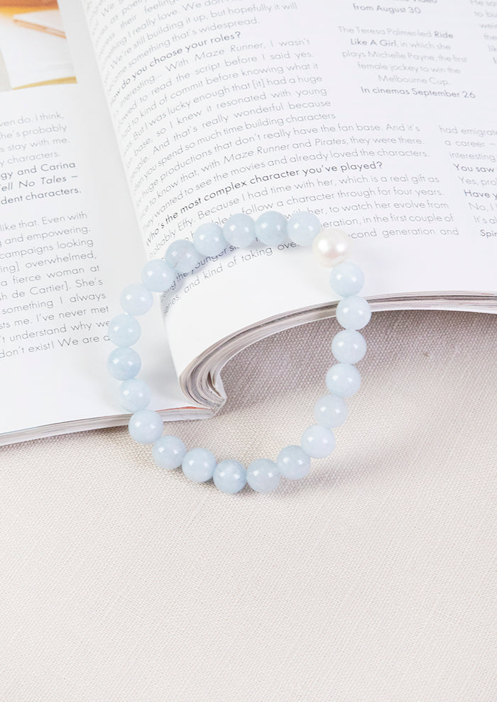 Load image into Gallery viewer, LOLITA'S PEARLS SICILY SMALL PEARL BRACELET - BLUE