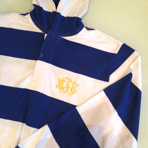Personalized Striped Hooded Rugby