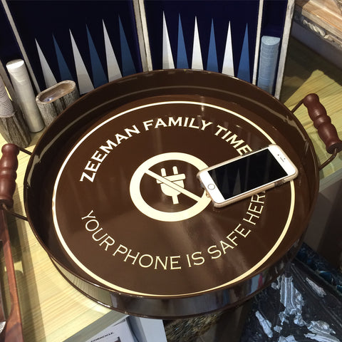 Personalized Phone Free/Family Time Tray