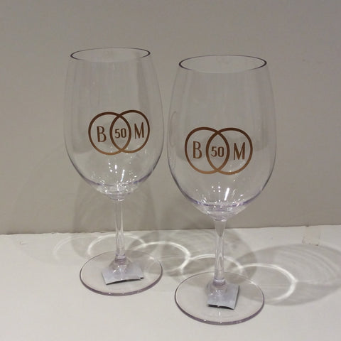 Acrylic Wine Glass, Personalized