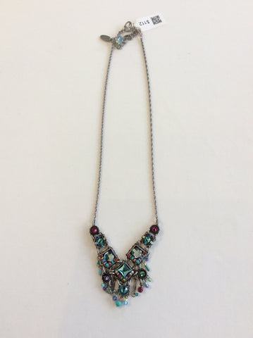 V-Shaped Bright Crystal Necklace