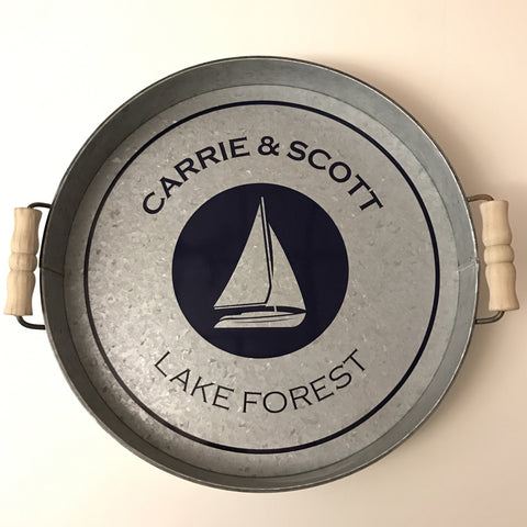 Personalized Sailboat Tray