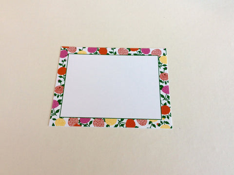 Flat Notecards with Floral Border