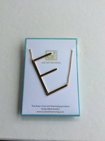 Gold Giant Letter Necklace