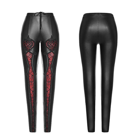 hautegoths - PUNK RAVE Lace Cut Out Leggings