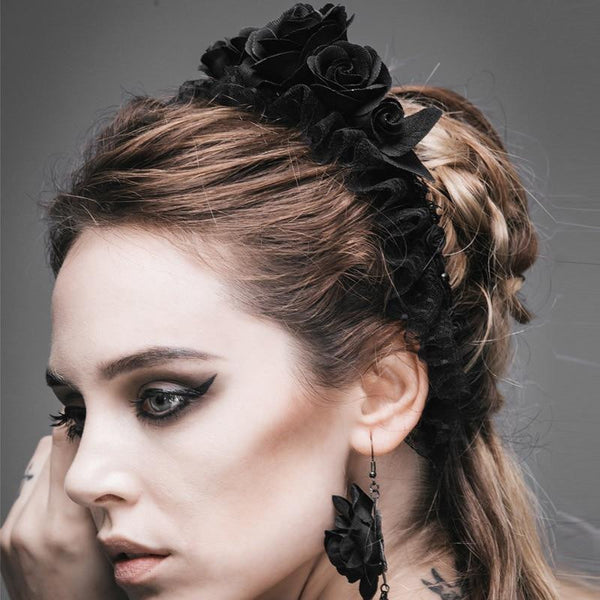 hautegoths - Gothic Rose Headband