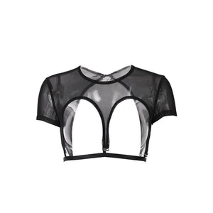 hautegoths - Mesh Cut Away Top