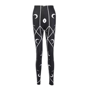 hautegoths - High Waist Crescent Moon Leggings