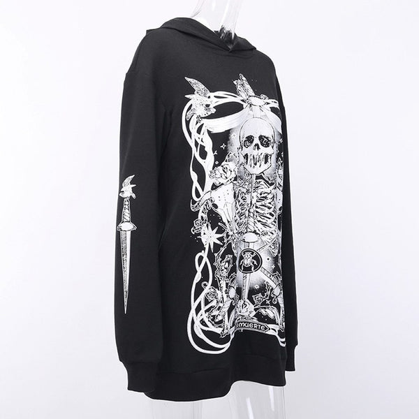 hautegoths - Skeleton King Over Sized Hoodie