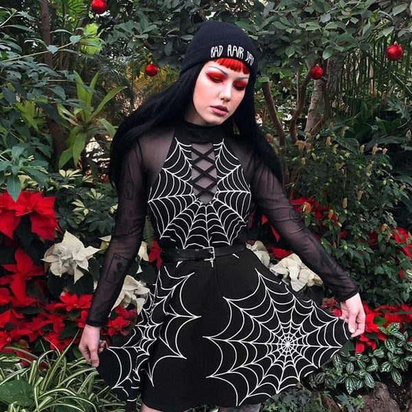 hautegoths - Spider Web Mini Dress