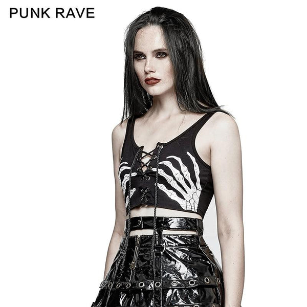 hautegoths - PUNK RAVE Handsy Crop Top