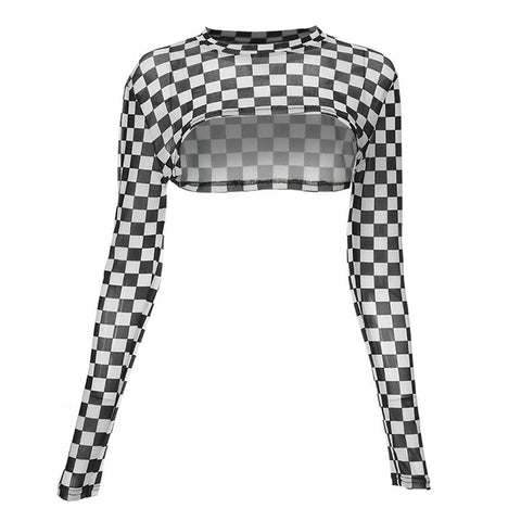 hautegoths - Checkered Crop Top