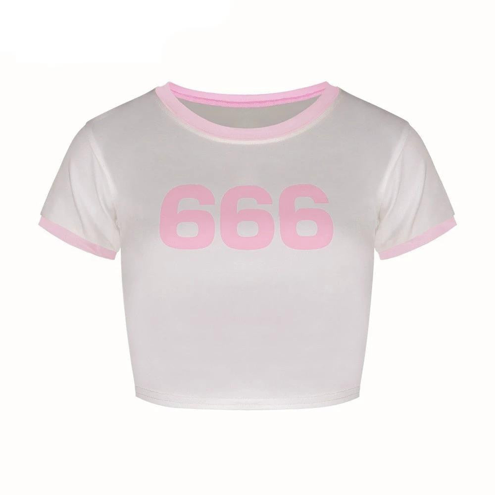 hautegoths - 666 Crop Top
