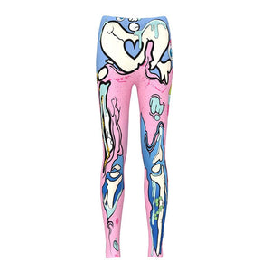 hautegoths - Melted Candy Bones Harajuku Leggings