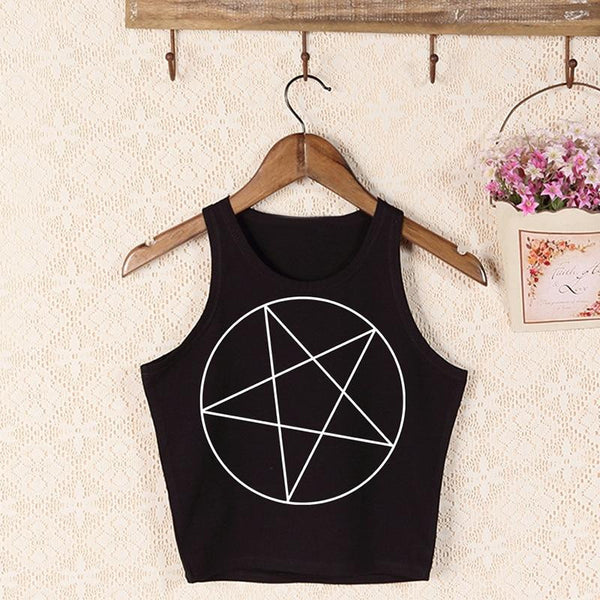 hautegoths - Pentagram Crop Top