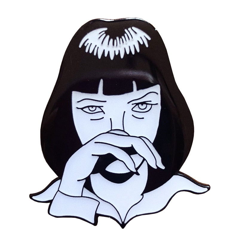 hautegoths - Mia Wallace Enamel Pin