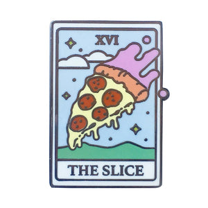 hautegoths - The Slice Tarot Card Enamel Pin