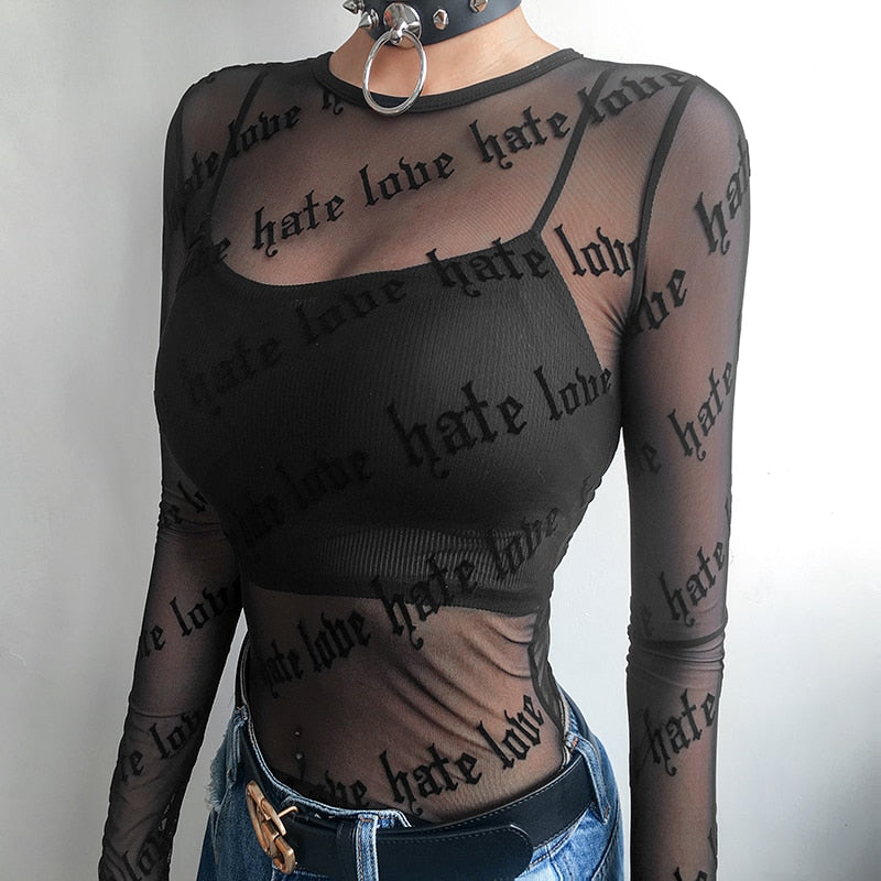 Love & Hate Mesh Top