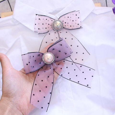 hautegoths - Lolli Bow Barette Or Brooch