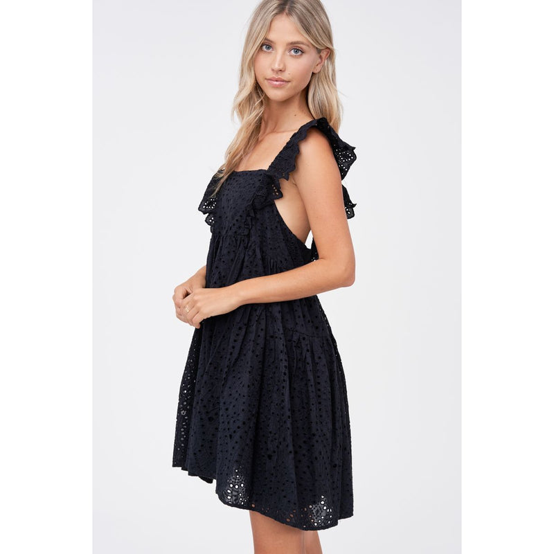 Lace Black Mini Dress