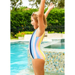 Opti Stripe Scoop One Piece