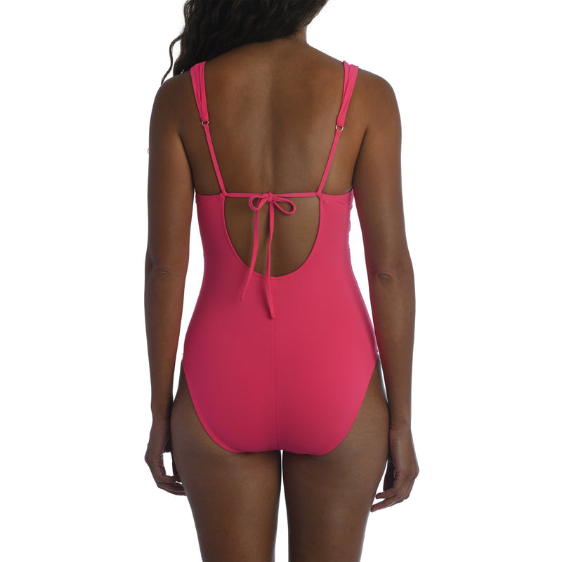 Island Goddess Twist Tie Back One Piece