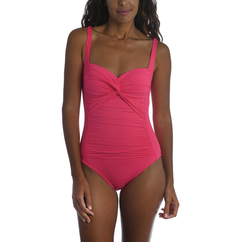 Island Goddess Twist Shirred One Piece