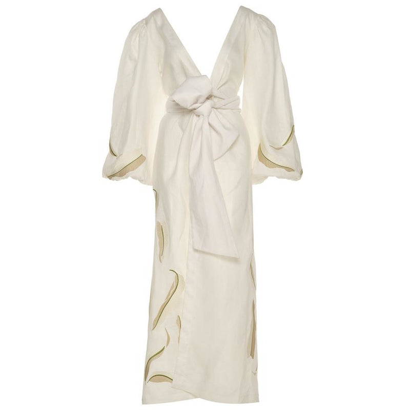 Leticia Linen Dress / Ivory