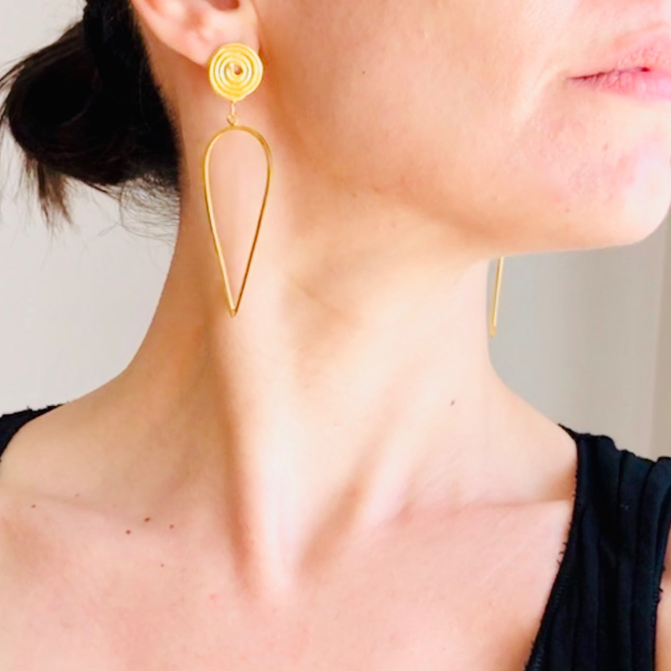 Long Spiral Earrings Gold-plated
