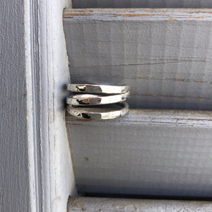 Silver Stripes Ring