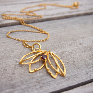 Tullip necklace gold-plated