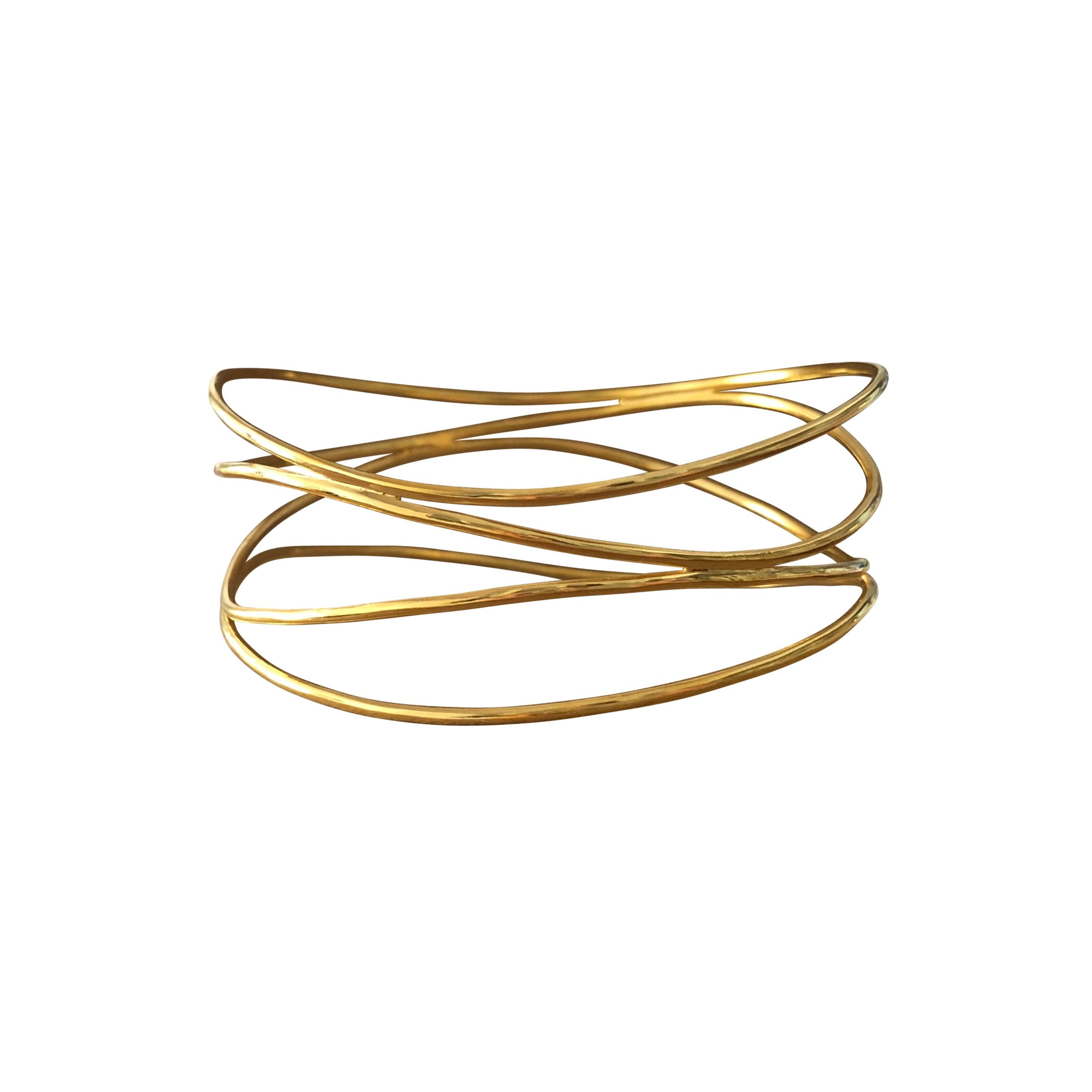 Gold Douple Wave Bracelet