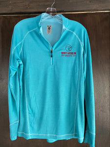 Women's Light Weight Quarter Zip Long Sleeve- Teal