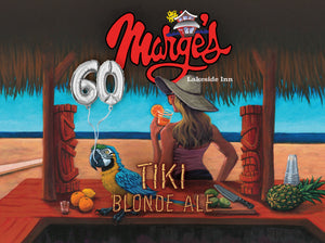 NEW Marge's Tiki Blonde Ale 16oz. Can