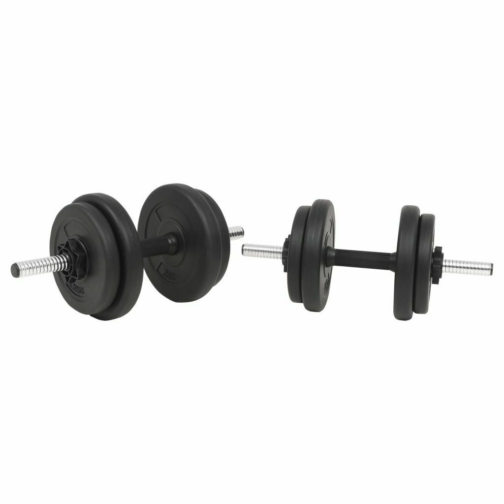 Barbell and Dumbbell Set 30kg Free Weight Plate Disc Training Lifting
