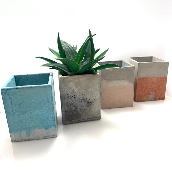 Cubo cemento mixto 112 - Camaleon-art - concrete shop art