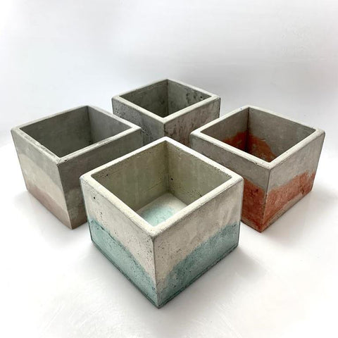 Cubo cemento mixto 108 - Camaleon-art - concrete shop art