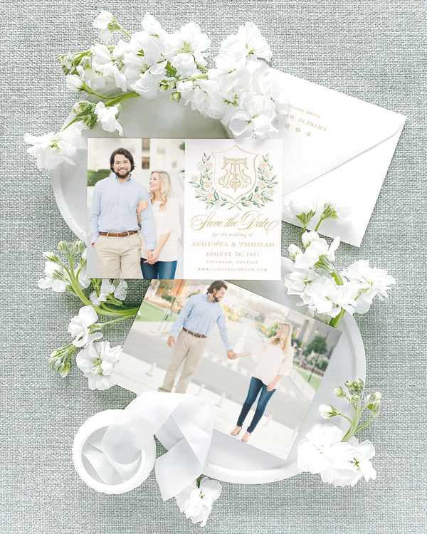Augusta Photo Style Save the Date with Envelope