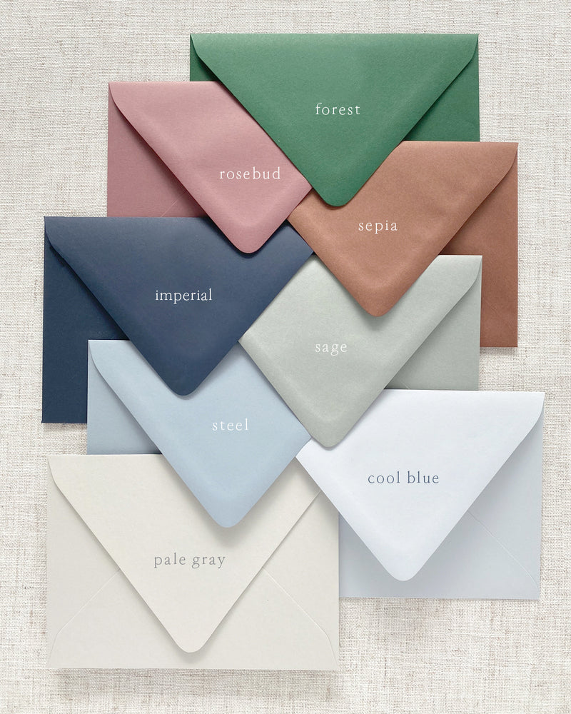 Save the Date Color Envelopes