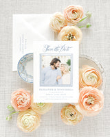 Eleanor Front Photo Save the Date with Envelope
