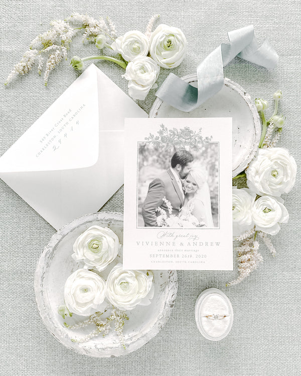 Vivienne Wedding Announcement with Photo