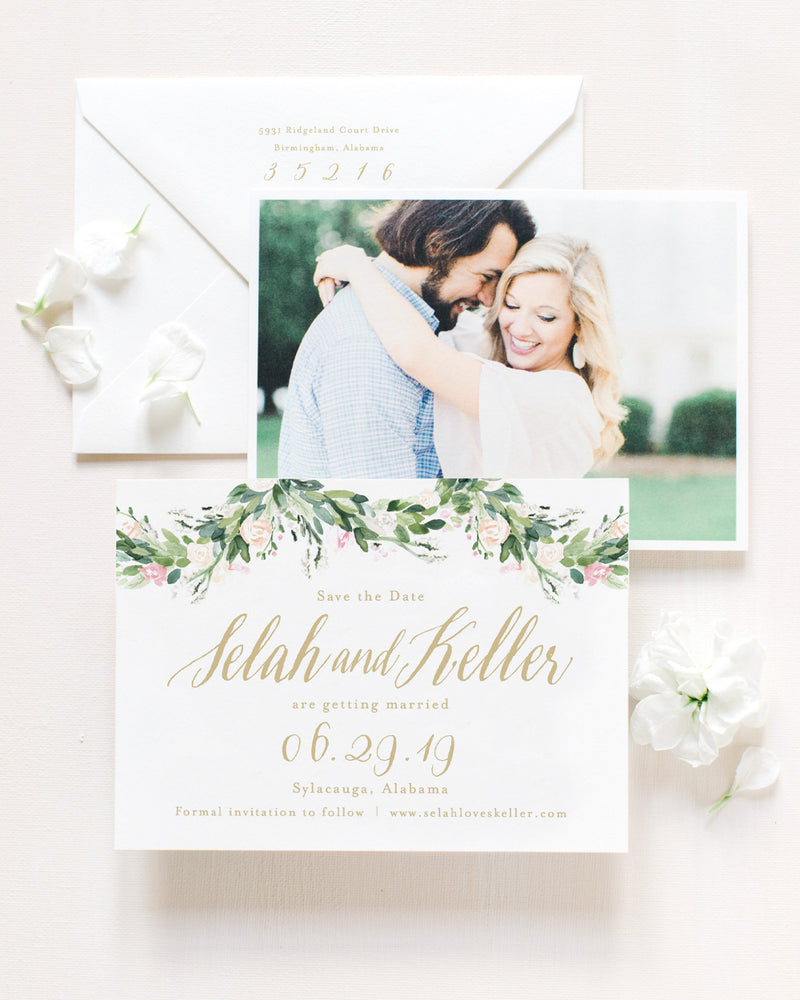 Selah Save the Date with Envelope