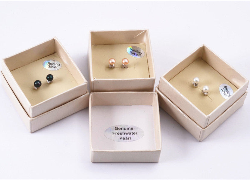 Small Pearl Studs - 3 Colours