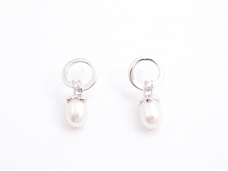 Pearl and Diamante Studs