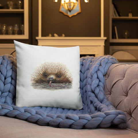 Sandra Temple Cute Echidna Pillow for the Living Room