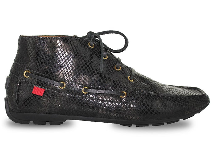 Broadway Driver Bootie - Black Gold Snake