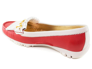Lexington Golf - Red Grainy & Cream Patent