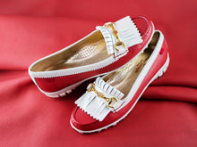 Load image into Gallery viewer, Lexington Golf - Red Grainy & Cream Patent