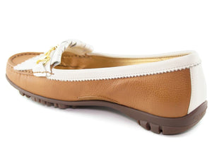 Lexington Golf - Tan Grainy & Cream Patent
